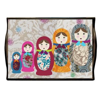 russian dolls Tray