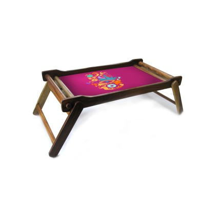 Fushia kaf bed tray