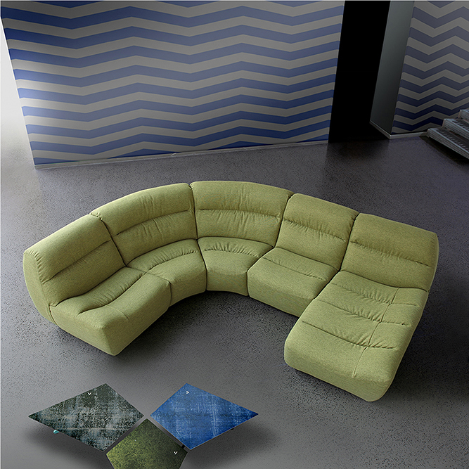 Rio Lshape Corner Gt Blend Furniture